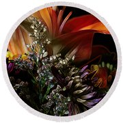 Round Beach Towel featuring the digital art Flowers 2 by Stuart Turnbull