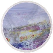 Flowers In The Ether Round Beach Towel
