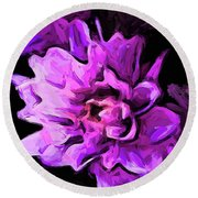 Flowers Of Lavender And Pink 1 Round Beach Towel