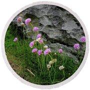 Flowers Of The Burren Round Beach Towel