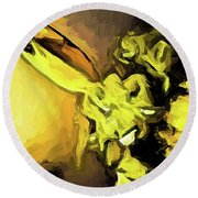 Flowers Of Yellow 1 Round Beach Towel