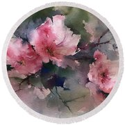 Flowers Round Beach Towel by Robin Miller-Bookhout