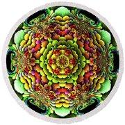 Round Beach Towel featuring the digital art Flowerscales 61 by Robert Thalmeier