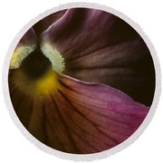 Flowerscape Pansy One Round Beach Towel