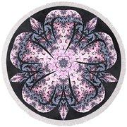 Round Beach Towel featuring the digital art Flowing Autumn by Derek Gedney