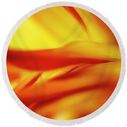 Flowing Floral Fire Round Beach Towel