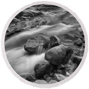 Round Beach Towel featuring the photograph Flowing Rocks by James BO Insogna