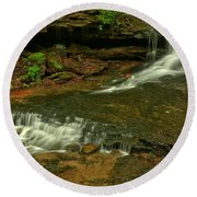 Flowing Through The Forbes State Forest Round Beach Towel