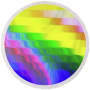Flowing Whimsical #113 Round Beach Towel by Barbara Tristan