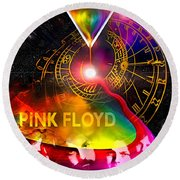 Floyd Time Round Beach Towel
