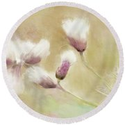 Fluffy Thistle Round Beach Towel