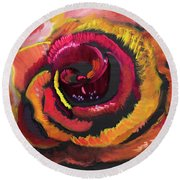 Fluorescent Rose Round Beach Towel by Meryl Goudey