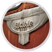 Flxible Clipper 1948 Round Beach Towel