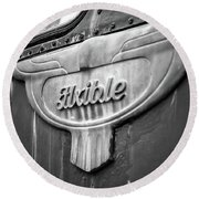 Flxible Clipper 1948 Bw Round Beach Towel