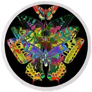 Round Beach Towel featuring the digital art Fly Away 2017 by Kathryn Strick