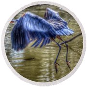 Round Beach Towel featuring the photograph Fly Away by Sumoflam Photography