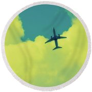 Fly Away  Without Snapshot Border Round Beach Towel by Tony Grider