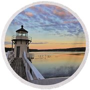 Fly By Morning Round Beach Towel