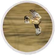 Fly-by Round Beach Towel