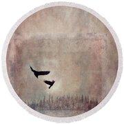 Fly Dance Round Beach Towel by Priska Wettstein