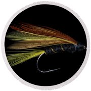 Fly Fishing 3 Round Beach Towel