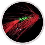 Fly-fishing 5 Round Beach Towel