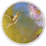 Fly In Round Beach Towel