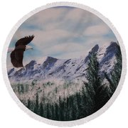 Fly Like An Eagle Round Beach Towel