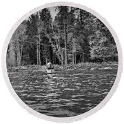 Fly On The Swing Round Beach Towel