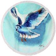 Flying Bird Round Beach Towel by Kovacs Anna Brigitta