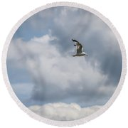 Flying By God Round Beach Towel