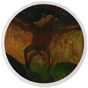 Round Beach Towel featuring the painting Flying Fox by Vincent van Gogh