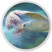 Flying High Round Beach Towel by Peggy Collins