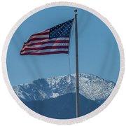 America The Beautiful Round Beach Towel