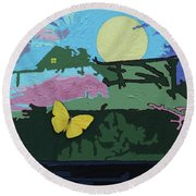 Flying Home Round Beach Towel by John Lautermilch