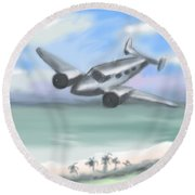 Flying Low Round Beach Towel