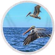 Flying Pair Round Beach Towel by Robert Bales