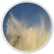 Round Beach Towel featuring the photograph Flying Past The Water Three  by Lyle Crump