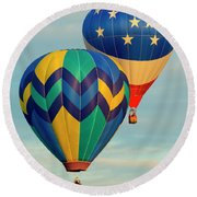 Flying The Colors Round Beach Towel