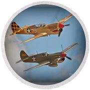 Flying Tigers Two Round Beach Towel