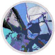Flying Towards The Light Round Beach Towel by John Lautermilch