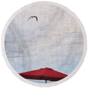 Flyover Round Beach Towel