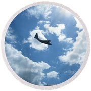 Flypast Round Beach Towel