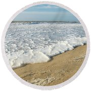 Foam On The Waves Round Beach Towel