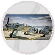 Focke-wulf 190 What Da Focke-wulf Round Beach Towel