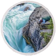 Round Beach Towel featuring the photograph Focused by Ronald Santini