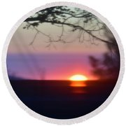 Focusing On A New Day Round Beach Towel by Angela J Wright