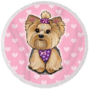 Fofa Hearts Round Beach Towel