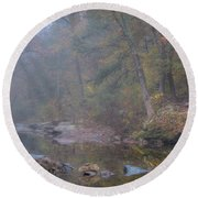 Fog And Color Round Beach Towel