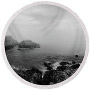Fog Cape Elizabeth  Round Beach Towel